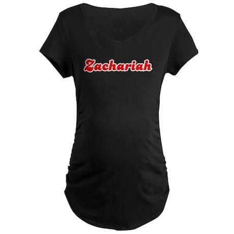 Retro Zachariah (Red) Maternity Dark T-Shirt