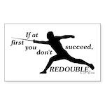 Redouble Rectangle Sticker 50 pk)