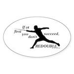 Redouble Oval Sticker (10 pk)