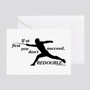 Redouble Greeting Card