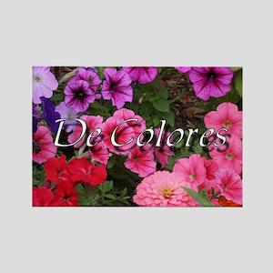 Floral De Colores Rectangle Magnet
