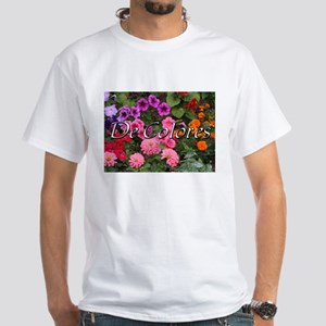 Floral De Colores White T-Shirt