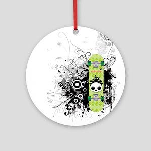 Sk8 Skullz Ornament (Round)