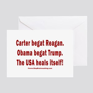 USA Heals Itself Greeting Card