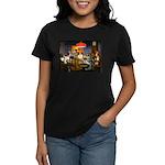 Dogs Playing RPGs! Women's Dark T-Shirt
