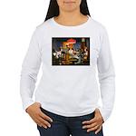 Dogs Playing RPGs! Women's Long Sleeve T-Shirt