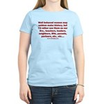 Behaved Women Women's Classic T-Shirt