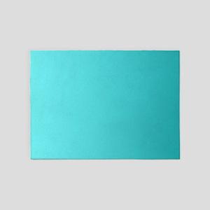 Teal to Aqua Blue Gradient 5'x7'Area Rug