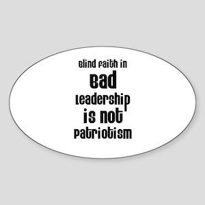 Blind Faith Oval Sticker