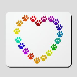 Cat Print Heart Mousepad