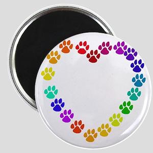 Cat Print Heart Magnet