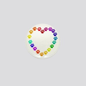 Cat Print Heart Mini Button