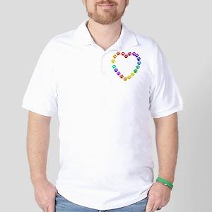 Cat Print Heart Golf Shirt