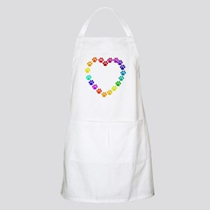 Cat Print Heart BBQ Apron