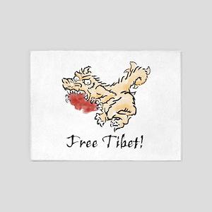 Free Tibet! 5'x7'Area Rug