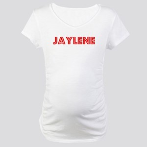 Retro Jaylene (Red) Maternity T-Shirt
