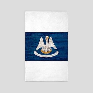 Louisiana Wood Pallet Flag Area Rug