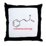 Molecularshirts.com Cinnamaldehyde Throw Pillow