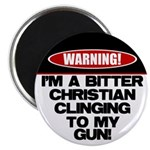 Warning: Christian with Gun Magnet