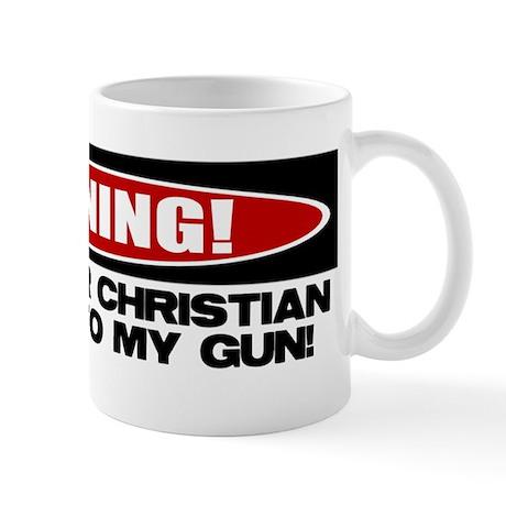 Warning: Christian with Gun Mug