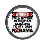 Warning: Christian with Gun Wall Clock