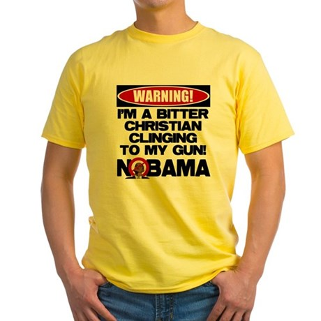 Warning: Christian with Gun Yellow T-Shirt