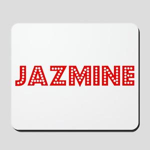 Retro Jazmine (Red) Mousepad