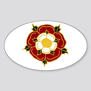 Tudor Rose Oval Sticker
