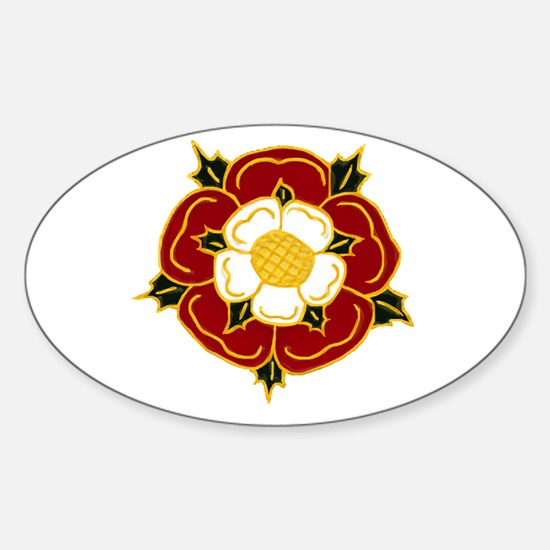 Tudor Rose Oval Decal