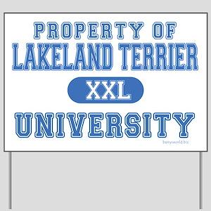Lakeland Terrier U. Yard Sign
