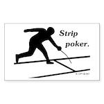 Strip Poker Rectangle Sticker 10 pk)