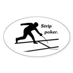 Strip Poker Oval Sticker (50 pk)
