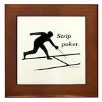 Strip Poker Framed Tile