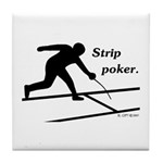 Strip Poker Tile Coaster
