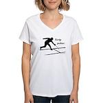 Strip Poker Women's V-Neck T-Shirt