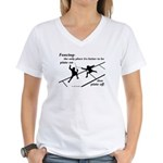 Piste On Women's V-Neck T-Shirt
