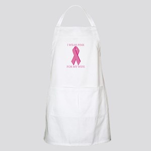 I Wear Pink For My Wife BBQ Apron