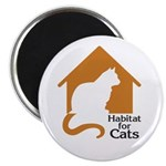 "Habitat For Cats 2.25"" Magnet (10 pack)"