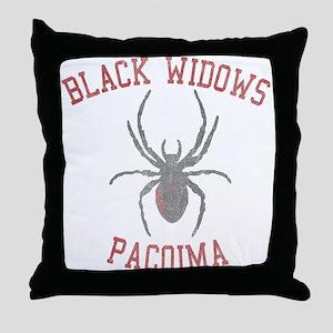 Black Widows Pacoima Throw Pillow