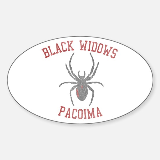 Black Widows Pacoima Oval Decal