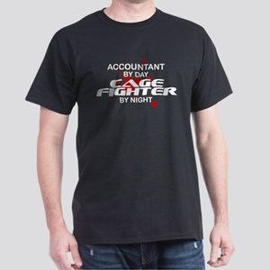 Accountant Cage Fighter by Night Dark T-Shirt