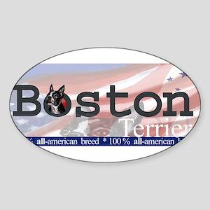 Boston Terrier All American Oval Sticker