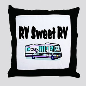 RV SWEET RV Throw Pillow