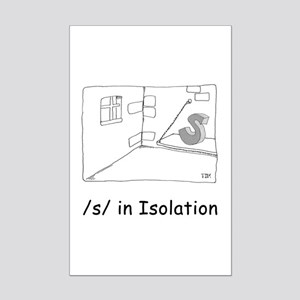 S in isolation Mini Poster Print