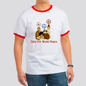 World Peace Cats Ringer T