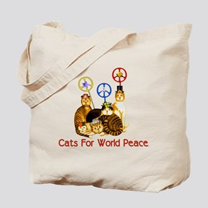 World Peace Cats Tote Bag