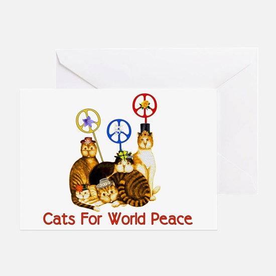 World Peace Cats Greeting Card