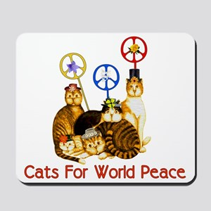 World Peace Cats Mousepad