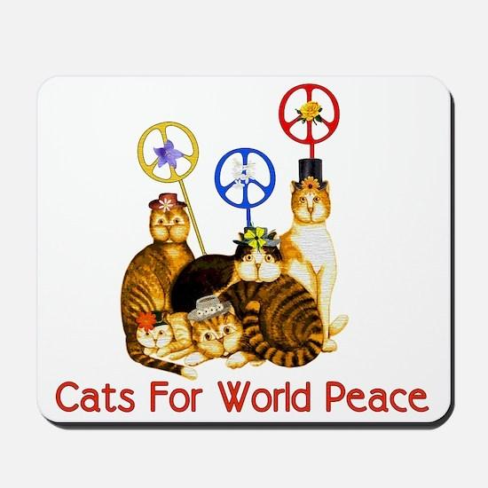 World Peace Cats Mousepad