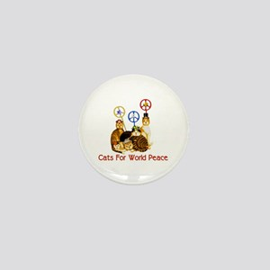World Peace Cats Mini Button